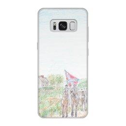 """Чехол для Samsung Galaxy S8, объёмная печать """"Кавалерия Конфедерации"""" - армия, война, сша, кавалерия, гражданская война сша"""