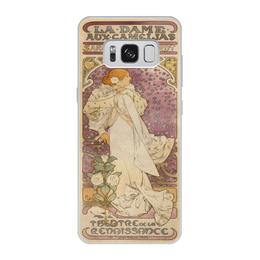 """Чехол для Samsung Galaxy S8, объёмная печать """"Модерн"""" - арт, девушка, 8 марта, женщине, альфонс муха"""