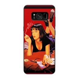 "Чехол для Samsung Galaxy S8, объёмная печать ""Pulp Fiction (Ума Турман)"" - mia, культовое кино, тарантино, ума турман, криминальное чтиво"