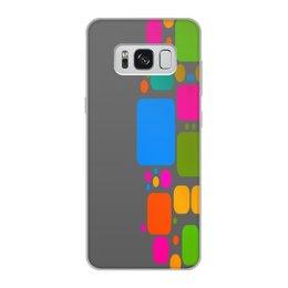 """Чехол для Samsung Galaxy S8, объёмная печать """"Квадраты"""" - узор, графика, кубики, геометрия, квадраты"""