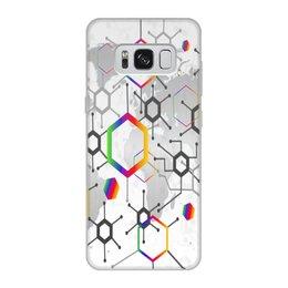 """Чехол для Samsung Galaxy S8, объёмная печать """"Формула"""" - узор, текстура, формула, химия, молекулы"""
