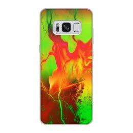 "Чехол для Samsung Galaxy S8, объёмная печать ""Пятна краски"" - узор, космос, пятна, краски, абстракция"