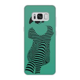 """Чехол для Samsung Galaxy S8, объёмная печать """"""""Раздвоение личности"""""""" - настроение, оригинальный, хеллоуин, стройность, раздвоение личности"""