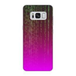 """Чехол для Samsung Galaxy S8, объёмная печать """"Матрица"""" - компьютеры, матрица, код, программа, пароль"""