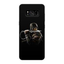 "Чехол для Samsung Galaxy S8, объёмная печать ""Mortal Kombat (Scorpion)"" - scorpion, mortal kombat, боец, воин, скорпион"