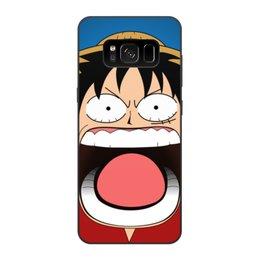 """Чехол для Samsung Galaxy S8, объёмная печать """"Луффи - Чё??!!"""" - аниме, шляпа, one piece, луффи, монки ди луффи"""
