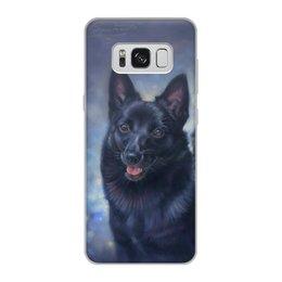 """Чехол для Samsung Galaxy S8, объёмная печать """"собака ШИППЕРКЕ"""" - животные, иллюстрация, собаки, породы"""
