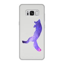"""Чехол для Samsung Galaxy S8, объёмная печать """"Space animals"""" - space, космос, fox, лиса, jump"""