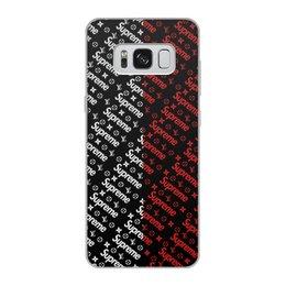 """Чехол для Samsung Galaxy S8, объёмная печать """"Supreme"""" - узор, надписи, бренд, supreme, суприм"""