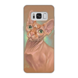 """Чехол для Samsung Galaxy S8, объёмная печать """"СФИНКС"""" - кошки, коты, авторский, сфинкс"""