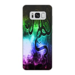 """Чехол для Samsung Galaxy S8, объёмная печать """"Рейзер"""" - фирма, компьютеры, технологии, razer, рейзер"""