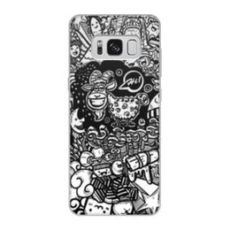 """Чехол для Samsung Galaxy S8, объёмная печать """"Иллюстрация"""" - звезда, люди, баран, ананас, козел"""