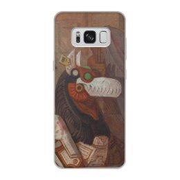 """Чехол для Samsung Galaxy S8, объёмная печать """"Коллекция"""" - фантастика, робот, иллюстрация, хоррор, волк"""
