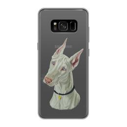 """Чехол для Samsung Galaxy S8, объёмная печать """"ДОБЕРМАН"""" - иллюстрация, собаки, доберман"""