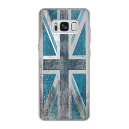 "Чехол для Samsung Galaxy S8, объёмная печать ""Синий Британский флаг "" - юмор, fun, англия"