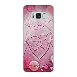 """Чехол для Samsung Galaxy S8, объёмная печать """"Сердечный ангел"""" - сердце, любовь, 14 февраля, день влюбленных, сердечный ангел"""