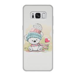 """Чехол для Samsung Galaxy S8, объёмная печать """"Медвежонок"""" - юмор, зима, рисунок, мультяшка, медвежонок"""
