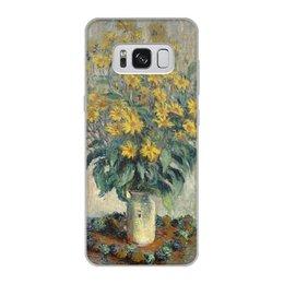"""Чехол для Samsung Galaxy S8, объёмная печать """"Топинамбур (картина Клода Моне)"""" - цветы, картина, импрессионизм, живопись, моне"""