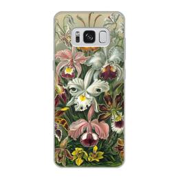 """Чехол для Samsung Galaxy S8, объёмная печать """"Орхидеи Эрнста Геккеля"""" - цветы, 8 марта, подарок, орхидея, эрнст геккель"""