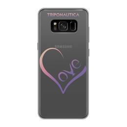 """Чехол для Samsung Galaxy S8, объёмная печать """"Lovesung Pink"""" - сердце, любовь, день святого валентина, 8 марта, подарок"""