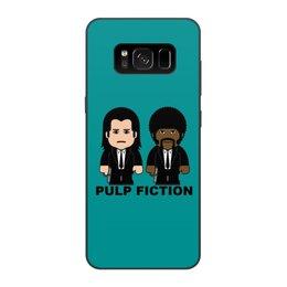 """Чехол для Samsung Galaxy S8, объёмная печать """"Pulp Fiction"""" - pulp fiction, тарантино, сэмюэл лерой джексон, джон траволта, криминальное чтиво"""