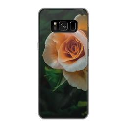 """Чехол для Samsung Galaxy S8, объёмная печать """"Оранжевое лето"""" - лето, цветы, роза, нежность, летнее настроение"""