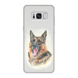 """Чехол для Samsung Galaxy S8, объёмная печать """"Овчарка"""" - овчарка, художественно, авторский, породы"""
