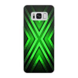 """Чехол для Samsung Galaxy S8, объёмная печать """"Абстракция"""" - узор, крест, абстракция, икс"""