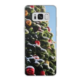 """Чехол для Samsung Galaxy S8, объёмная печать """"Новый год"""" - рождество, новыйгод, елочные игрушки, новогодняя елка, шары на ёлке"""