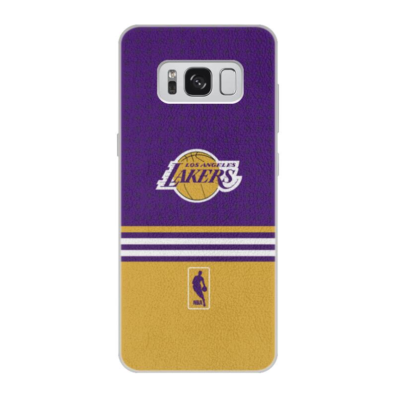 Чехол для Samsung Galaxy S8 кожаный Printio Lakers case pro баскетбольную форму lakers