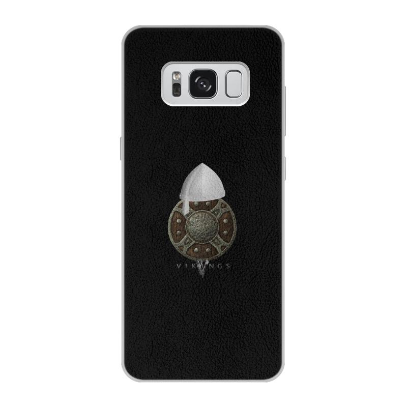 Чехол для Samsung Galaxy S8 кожаный Printio Викинги. vikings чехол для samsung galaxy s8 plus объёмная печать printio викинги vikings