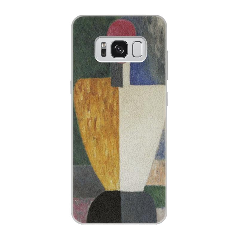 Чехол для Samsung Galaxy S8 кожаный Printio Торс (фигура с розовым лицом) (малевич) чехол для samsung galaxy s5 printio торс фигура с розовым лицом малевич