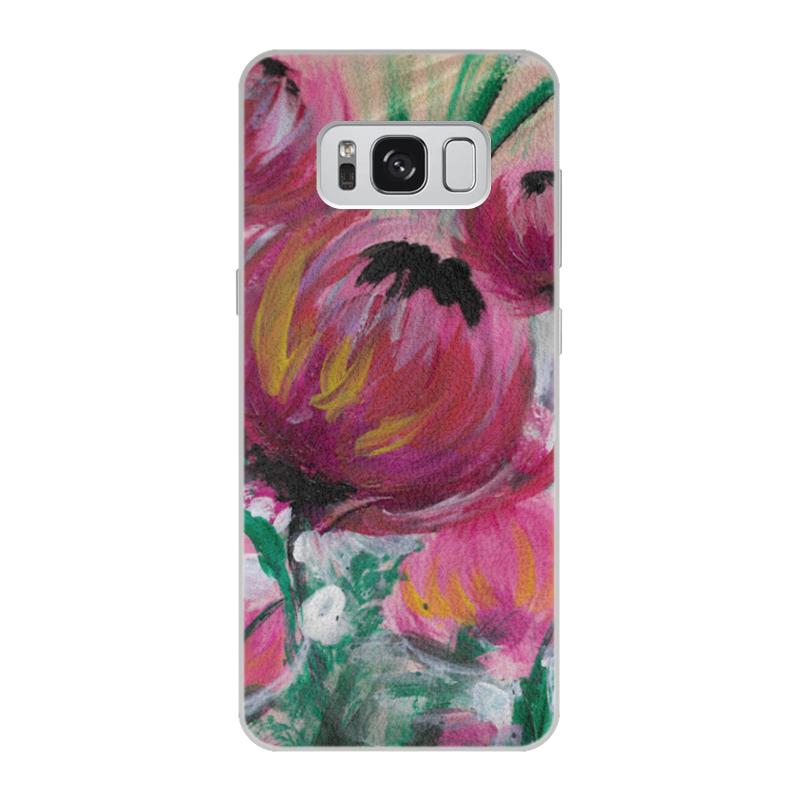 Чехол для Samsung Galaxy S8 кожаный Printio Полевые цветы st баллон для автоматического освежителя воздуха полевые цветы 39 мл