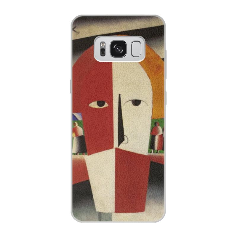 Чехол для Samsung Galaxy S8 кожаный Printio Голова крестьянина (казимир малевич) чехол для samsung galaxy s5 printio торс фигура с розовым лицом малевич