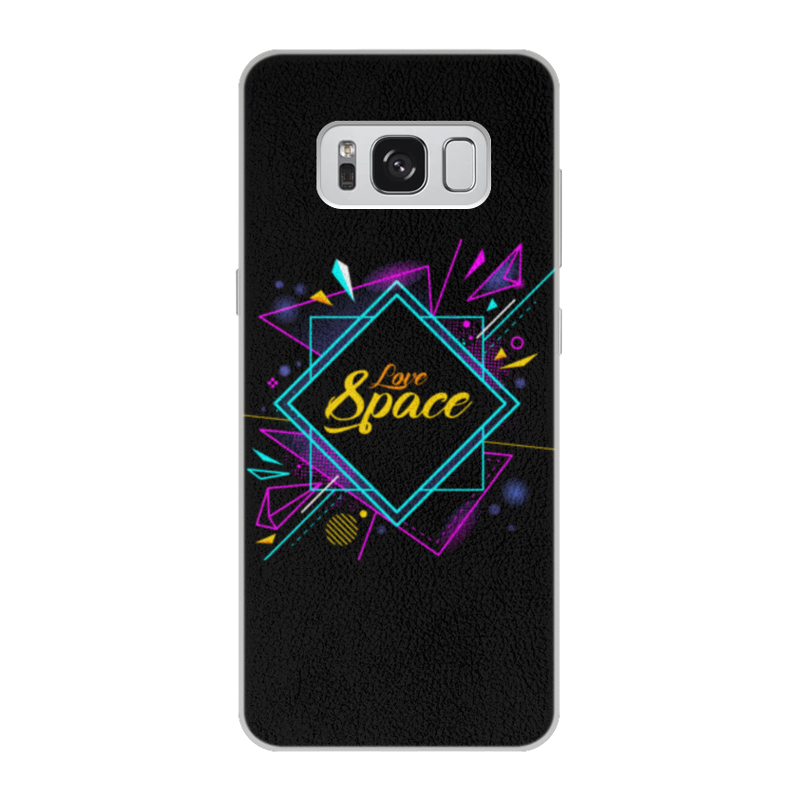 Чехол для Samsung Galaxy S8 кожаный Printio Love space чехол для samsung galaxy s8 plus силиконовый printio love space