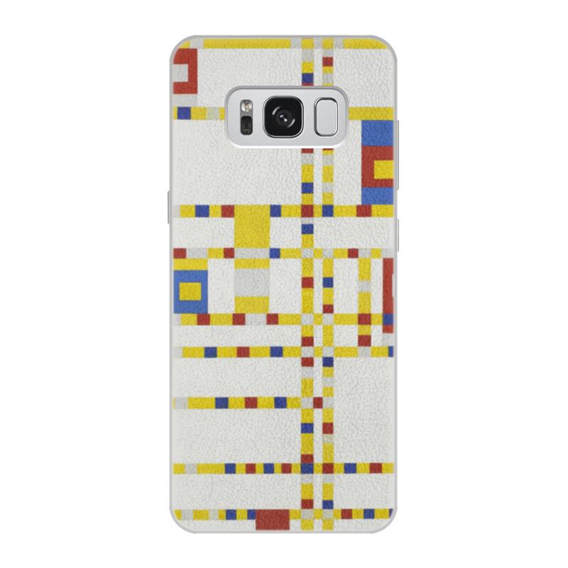 Чехол для Samsung Galaxy S8 кожаный Printio Бродвей буги-вуги (питер мондриан) чехол для samsung galaxy s5 printio бродвей буги вуги питер мондриан