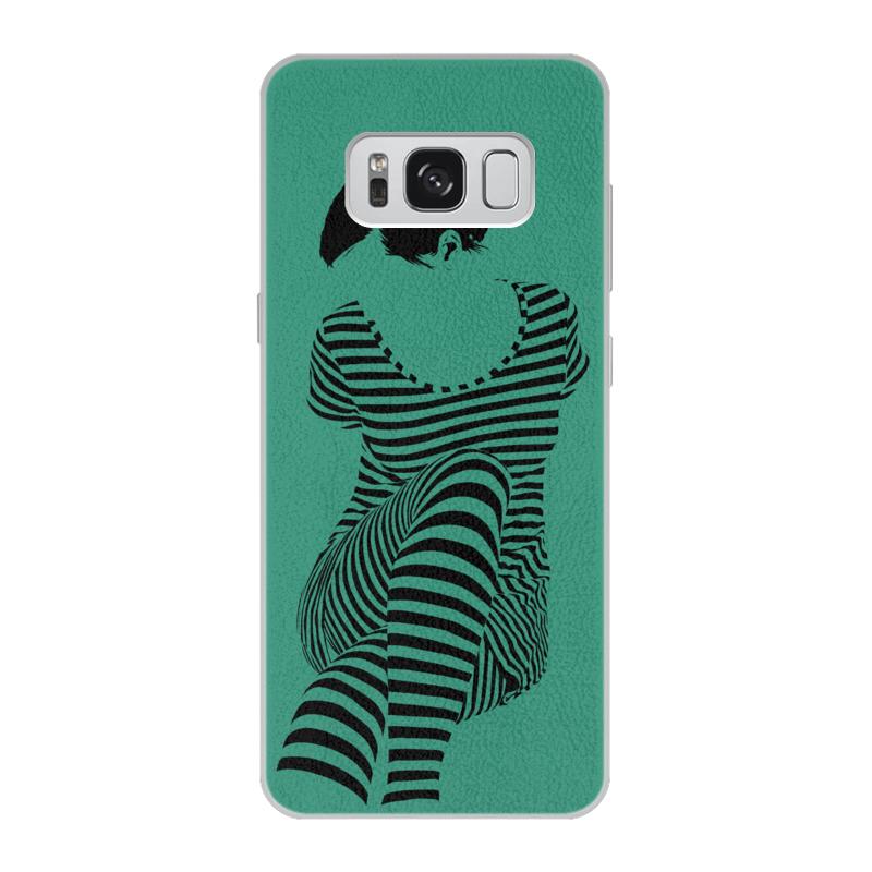 Чехол для Samsung Galaxy S8 кожаный Printio раздвоение личности