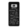 """Чехол для Samsung Galaxy S8 кожаный """"Манта для настоящих мужчин (черный вариант)"""" - праздник, мужчина, подарок, пожелания, мантра"""