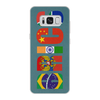 "Чехол для Samsung Galaxy S8 кожаный ""BRICS - БРИКС"" - россия, китай, индия, бразилия, юар"