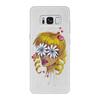 """Чехол для Samsung Galaxy S8 кожаный """"Без ума от цветов"""" - любовь, девушка, цветы, сердца, блондинка"""