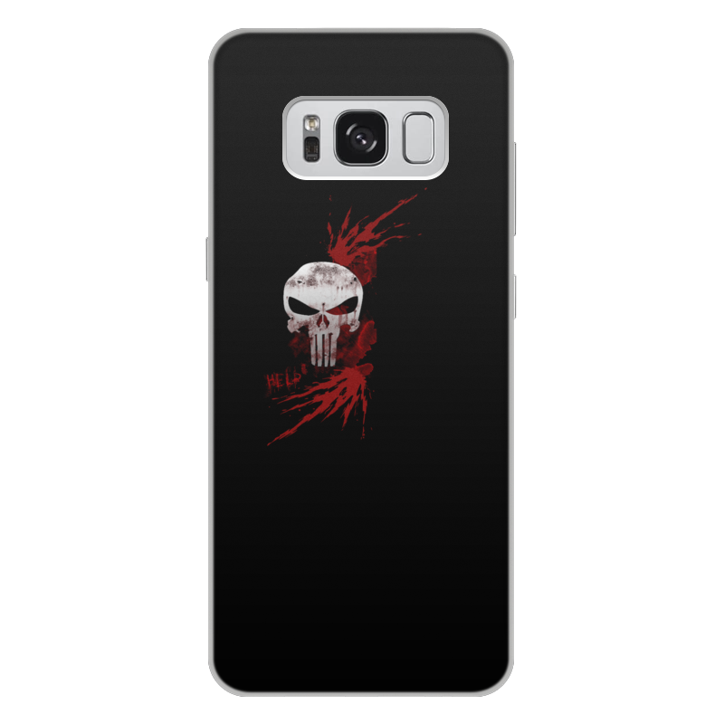 Чехол для Samsung Galaxy S8 Plus, объёмная печать Printio Каратель. punisher