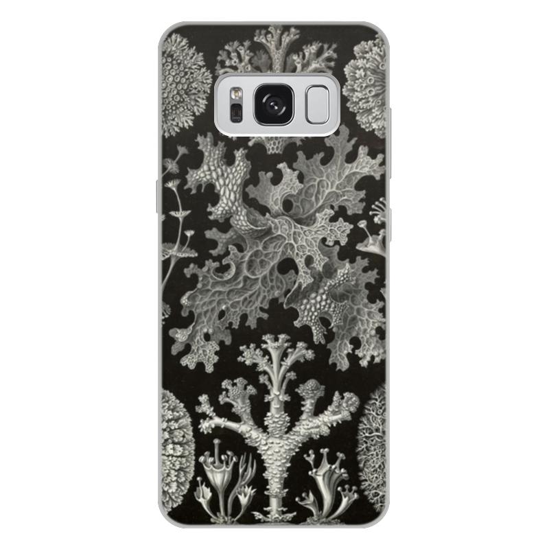 купить Чехол для Samsung Galaxy S8 Plus, объёмная печать Printio Лишайники (lichenes, ernst haeckel) недорого