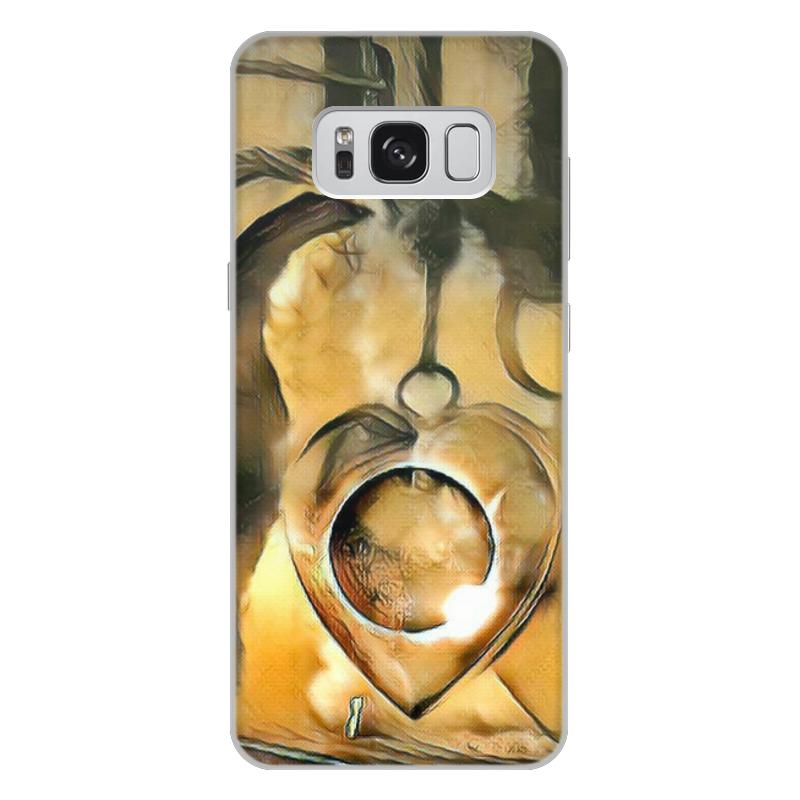 Чехол для Samsung Galaxy S8 Plus, объёмная печать Printio The moon in your heart plus heart