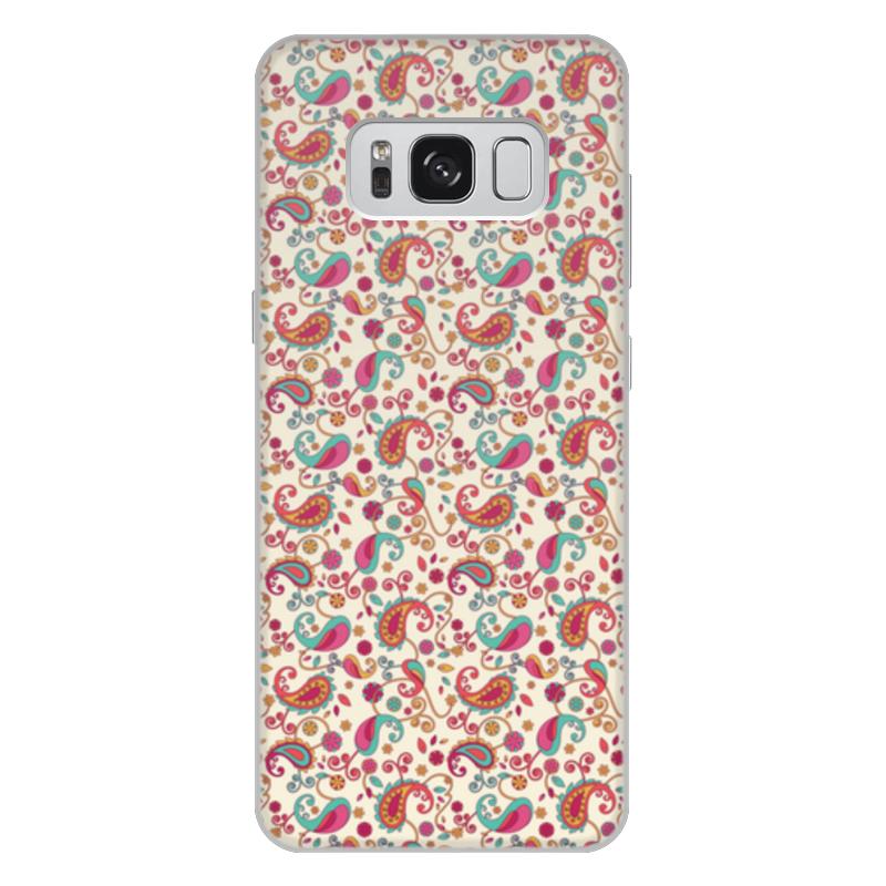 Чехол для Samsung Galaxy S8 Plus объёмная печать Printio Пейсли яркий