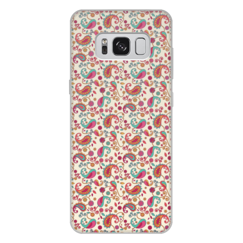 Чехол для Samsung Galaxy S8 Plus, объёмная печать Printio Пейсли (яркий) oem samsung akg s8 headphones earbuds with mic for samsung galaxy s8 s8 plus