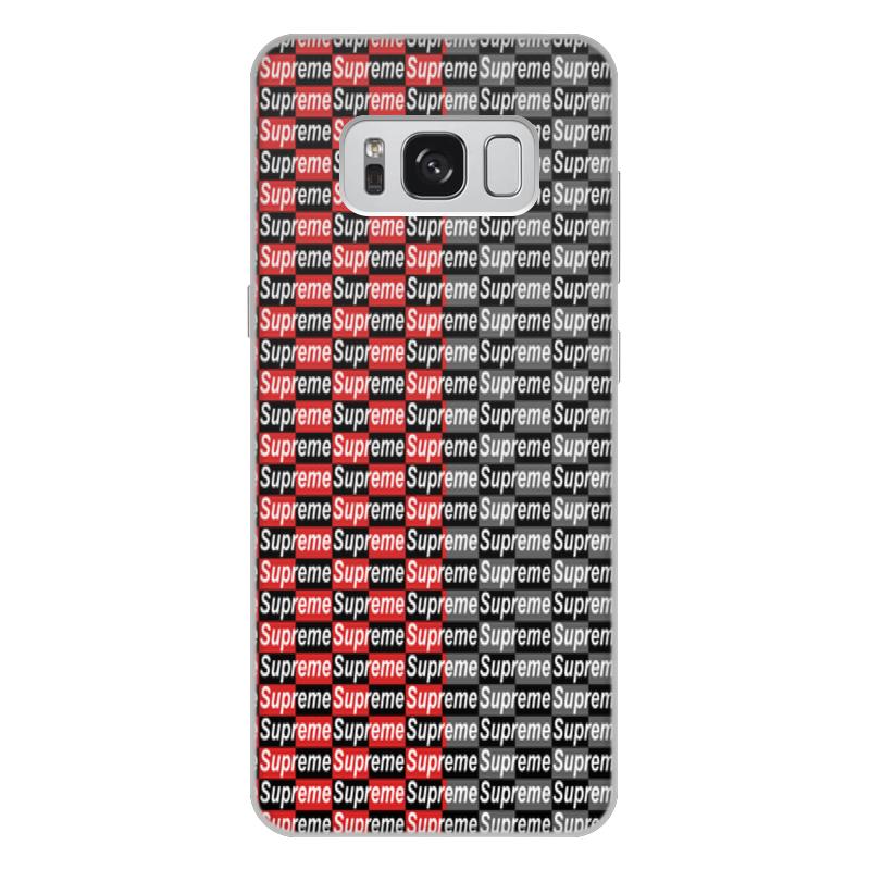 Чехол для Samsung Galaxy S8 Plus, объёмная печать Printio Supreme цена