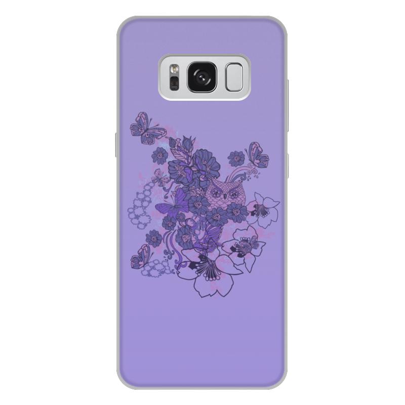 Чехол для Samsung Galaxy S8 Plus, объёмная печать Printio Сова в цветах чехол для iphone 5 printio сова в цветах