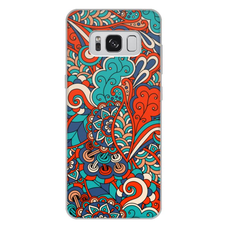 Чехол для Samsung Galaxy S8 Plus, объёмная печать Printio Дудл узор
