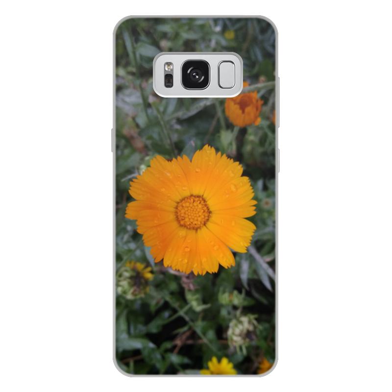 цена на Чехол для Samsung Galaxy S8 Plus, объёмная печать Printio Летние цветы