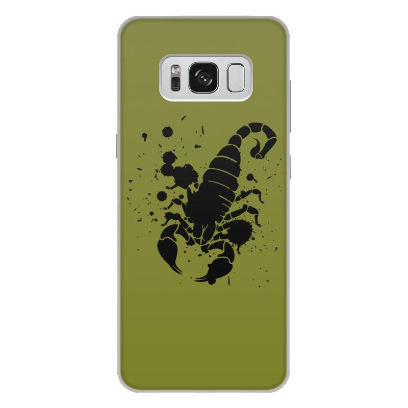 Чехол для Samsung Galaxy S8 Plus, объёмная печать Printio Скорпион (24.10-21.11)